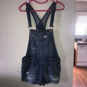Bethany mota overall jean shorts